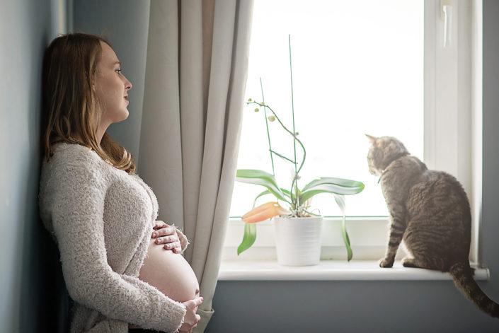 sesja ciążowa w domu gdańsk, mrugała studio, sesja ciążowa trójmiasto