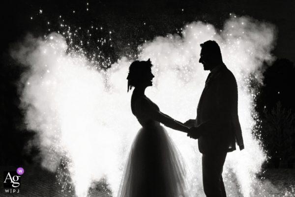 sesja ślubna Gdańsk, sztuczne ognie na ślubie, mrugała studio
