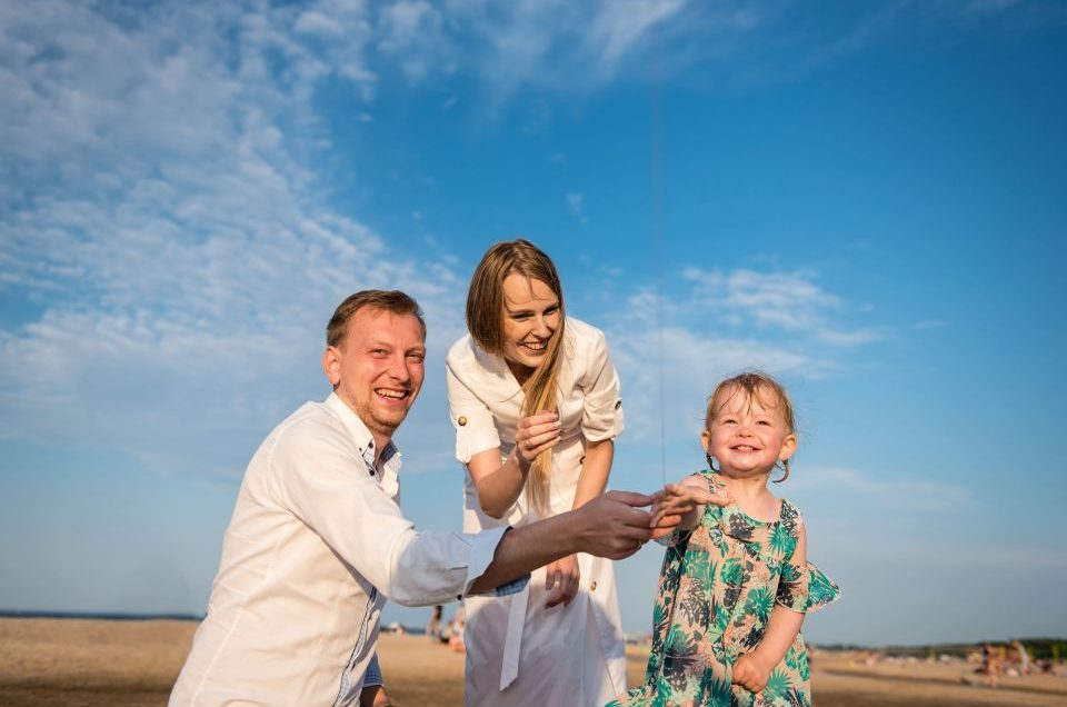 Rodzinne zdjęcia nad morzem