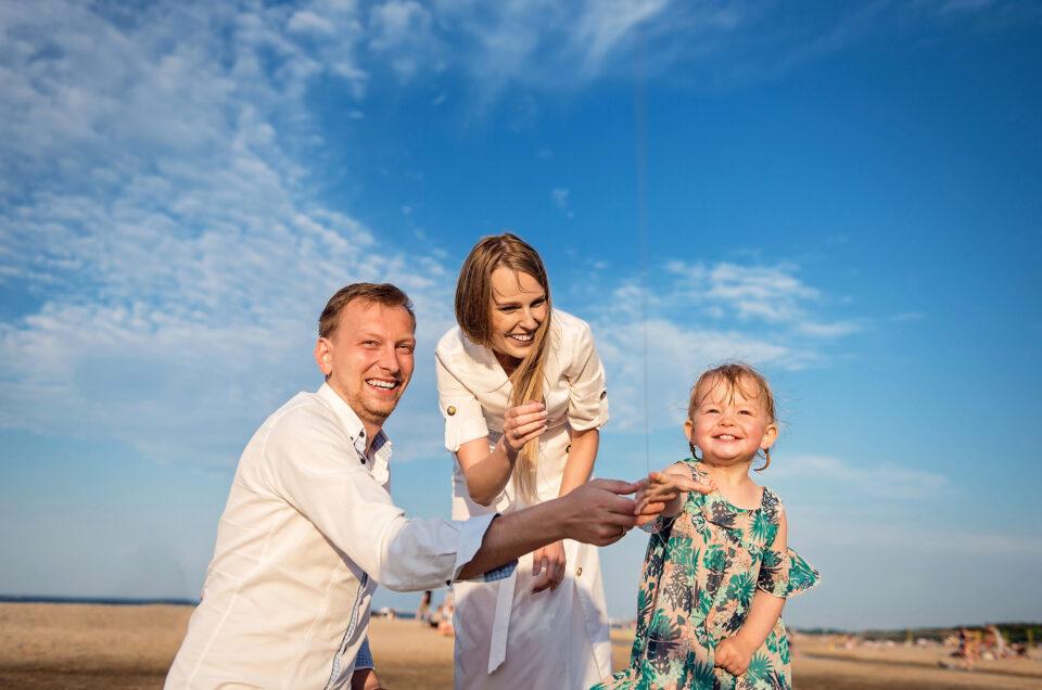 sesja rodzinna na plaży w Gdańsku